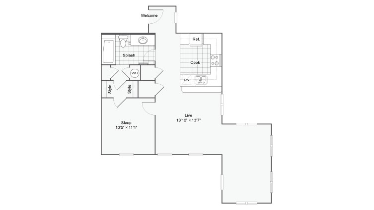 Floor Plan 62| Alamo Apartments San Antonio TX | Arrive Eilan