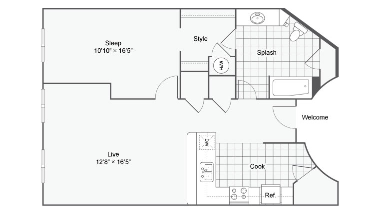 Floor Plan 63| Alamo Apartments San Antonio TX | Arrive Eilan