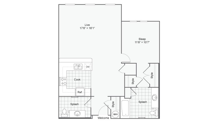 48 Bed 48 Bath Apartment In San Antonio TX Arrive Eilan Simple 1 Bedroom Apartments San Antonio Tx Style Plans