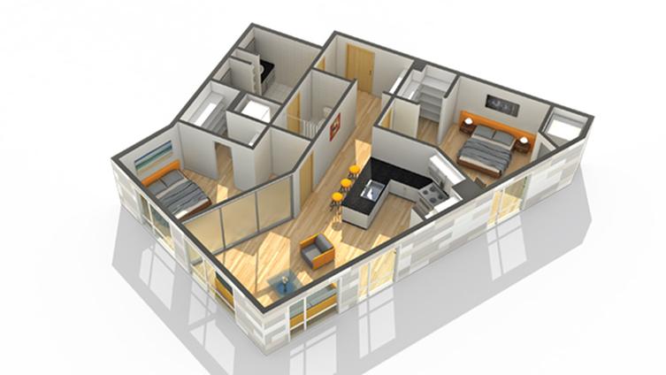 Floor Plan 16 | Luxury Apartments Minneapolis MN | Solhaus Apartments