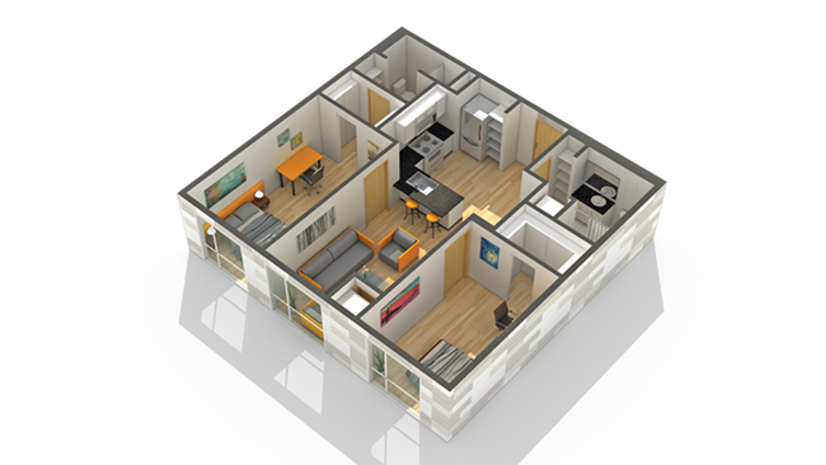 Floor Plan 20 | Minneapolis Apartments Near University Of Minnesota | Solhaus Apartments