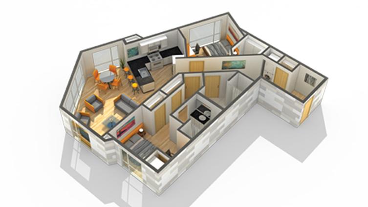 Floor Plan 19 | Minneapolis Apartments For Rent Near University Of Minnesota | Solhaus Apartments
