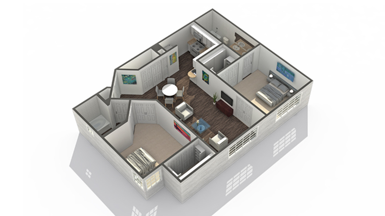 2 Bedroom Floor Plan | Luxury Apartments In Scottsdale AZ | Arrive North Scottsdale