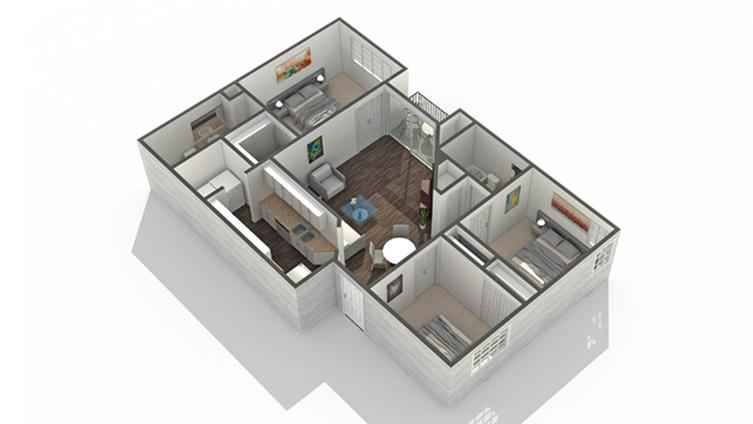 3 Bedroom Floor Plan | Apartments North Scottsdale | Arrive North Scottsdale
