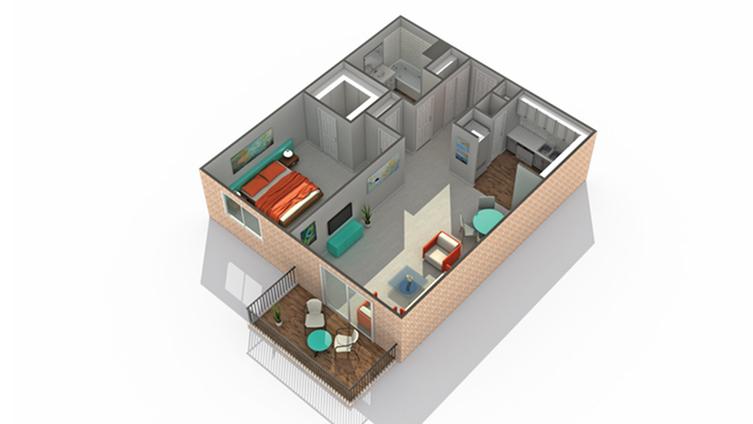 Floor Plan 2   Eden Prairie MN Luxury Apartments   ReNew Eden Prairie