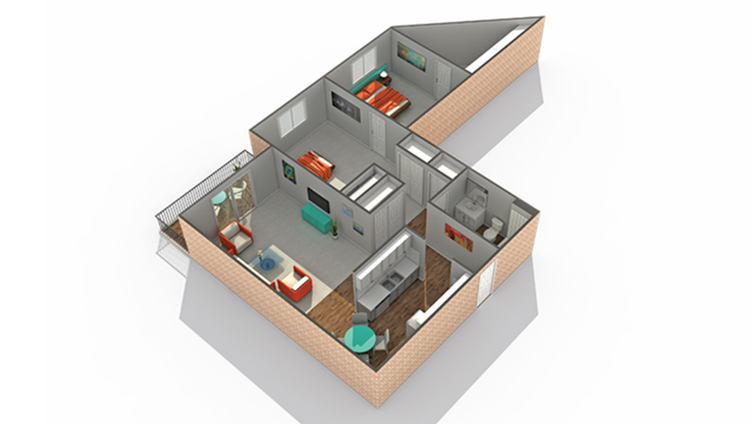 Floor Plan 3   Apartments Near Eden Prairie MN   ReNew Eden Prairie