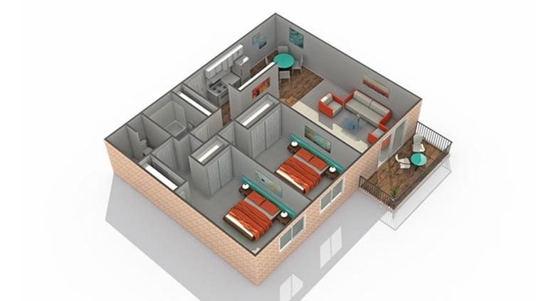 Floor Plan 5   Luxury Apartments In Eden Prairie MN   ReNew Eden Prairie