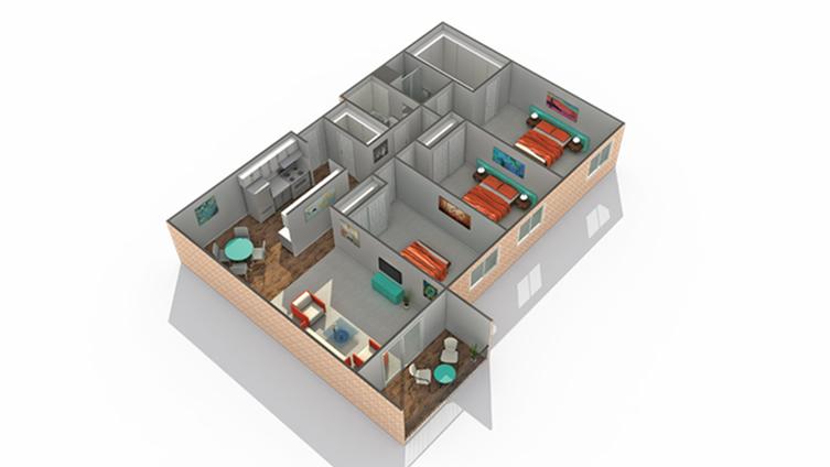 Floor Plan   Eden Prairie Luxury Apartments   ReNew Eden Prairie