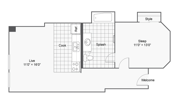 Floor Plan 4 | Apartments In Denver | Renew on Stout