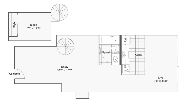 Floor Plan 7 | 2 Bedroom Apartments Denver | Renew on Stout