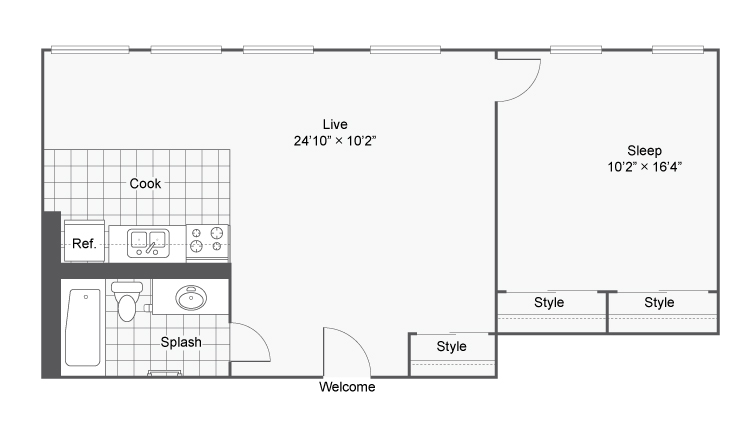 Floor Plan 9 | Apartments In Denver | Renew on Stout