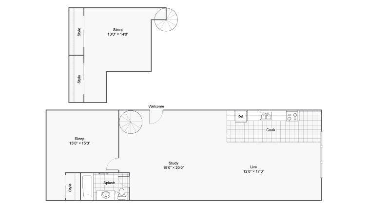Floor Plan 11 | Apartments In Denver Colorado | Renew on Stout
