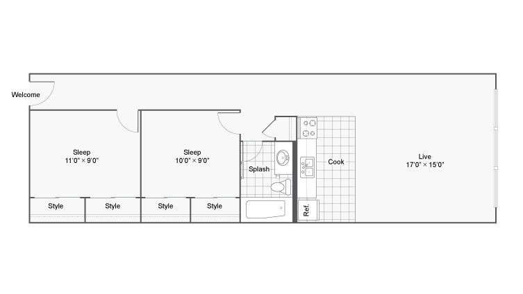 Floor Plan 14 | Apartments In Denver | Renew on Stout