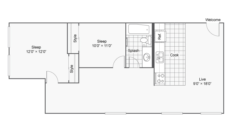 Floor Plan 15 | Apartments In Denver Colorado | Renew on Stout