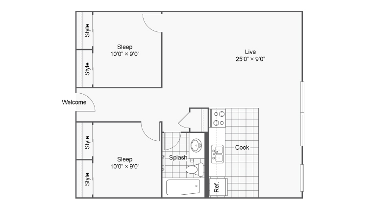 Floor Plan 16 | Apartments In Denver Colorado | Renew on Stout