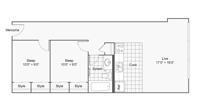 Floor Plan 19 | Apartments In Denver | Renew on Stout