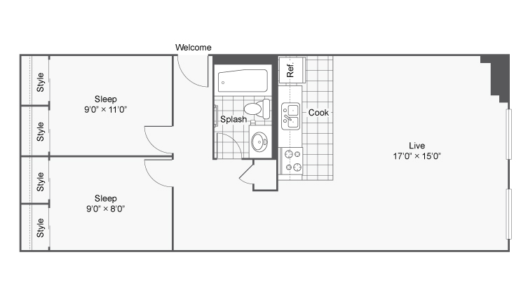 Floor Plan 20 | Apartments In Denver Colorado | Renew on Stout