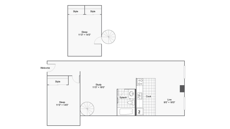 Floor Plan 24 | Apartments In Denver | Renew on Stout
