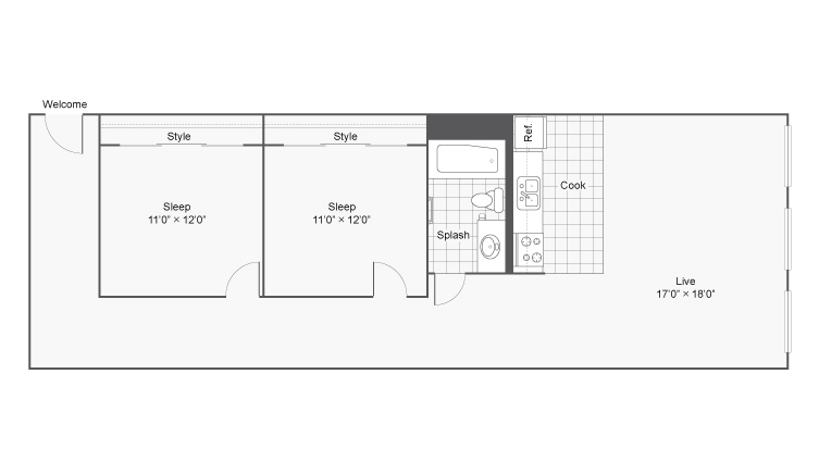 Floor Plan 25 | Apartments In Denver Colorado | Renew on Stout