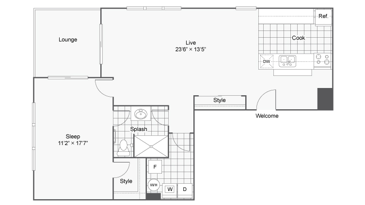 Floor Plan | ReNew on Main Apartment Homes for Rent in Algonquin IL 60102