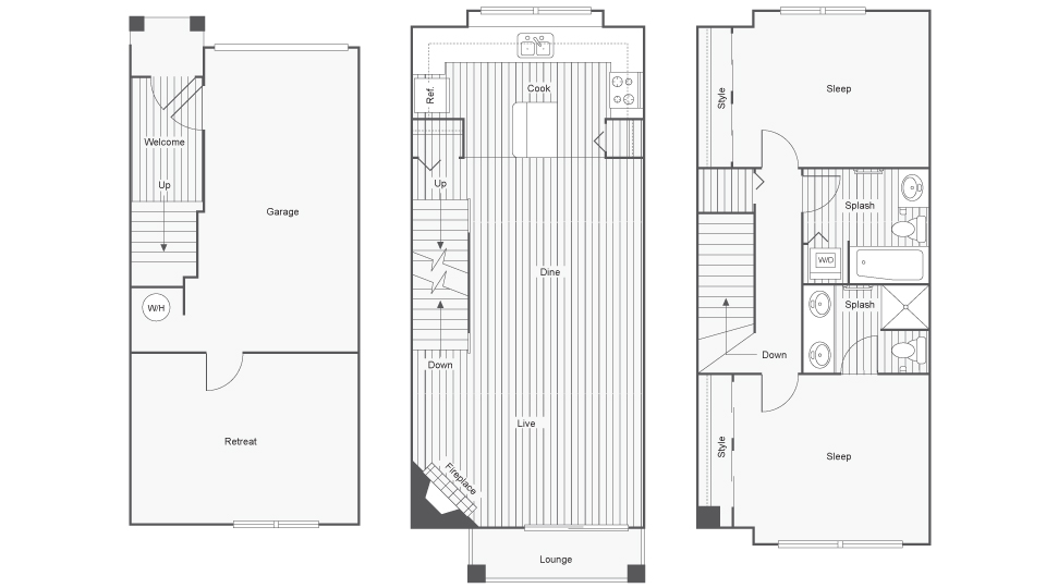 Floor Plan Layout | Arrive North Bend Apartment Homes for Rent in North Bend WA 98045