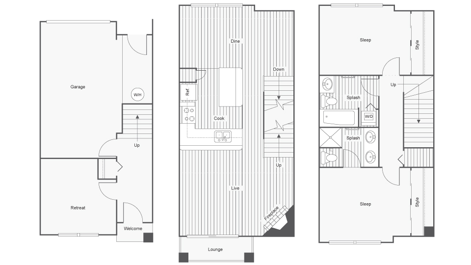 2 Bedroom Floor Plan | Apartments In North Bend Wa | Arrive North Bend