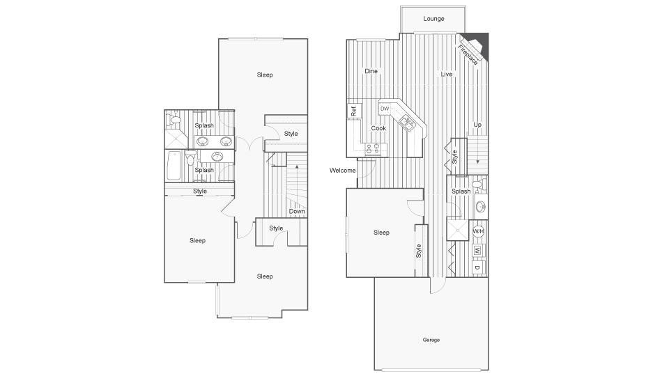 4 Bedroom Floor Plan | North Bend Wa Apartments | Arrive North Bend