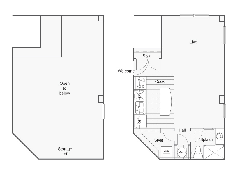 Floor Plan 10 | Apartments Downtown Wichita KS | ReNew Wichita