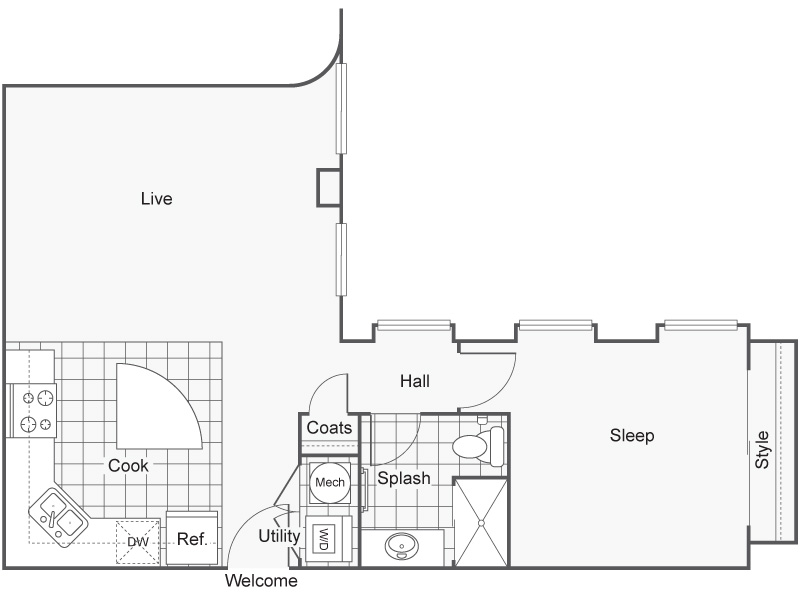 Floor Plan 16 | Apartments In Wichita KS | ReNew Wichita