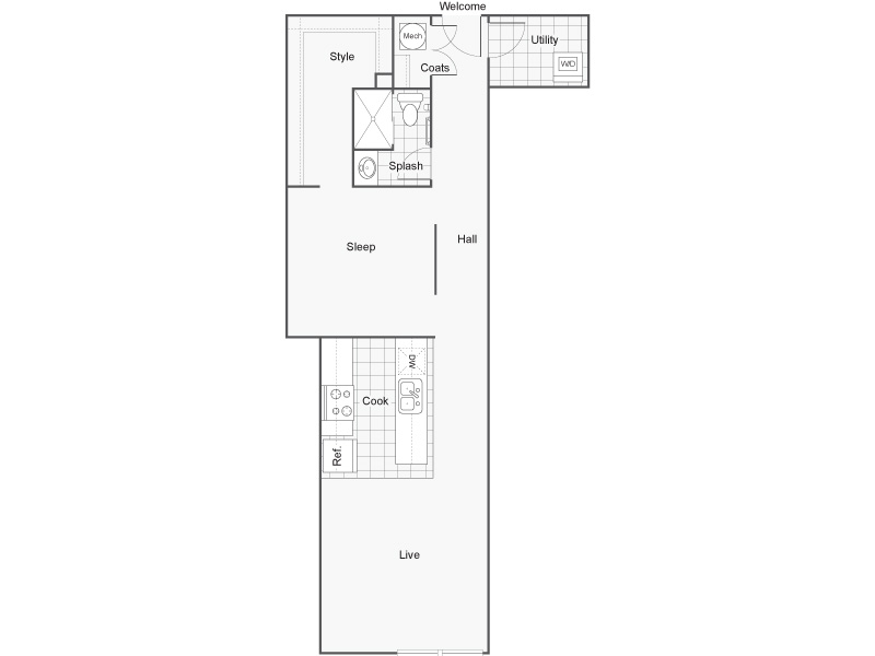 Floor Plan 19 | Luxury Apartments Wichita KS | ReNew Wichita