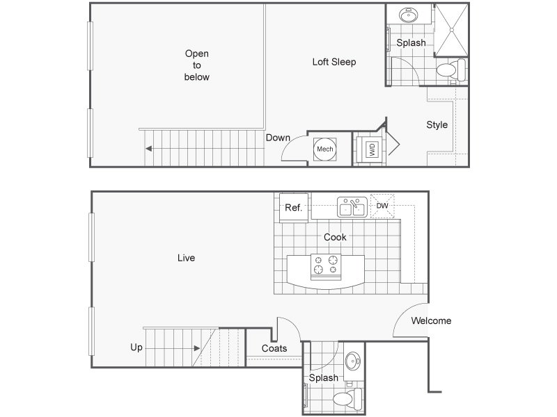 Floor Plan 21 | Apartments In Wichita KS | ReNew Wichita