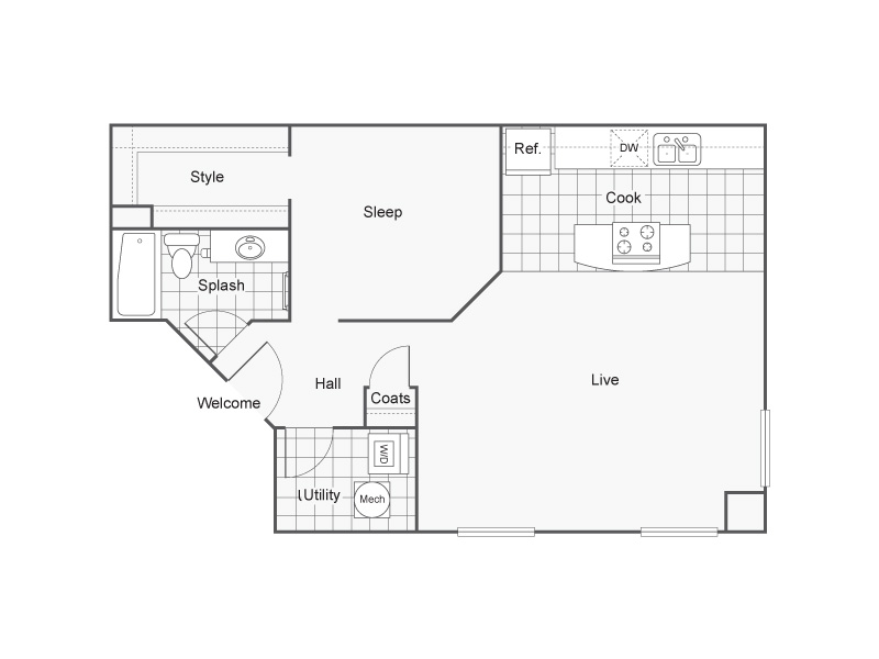 Floor Plan 23 | Wichita Kansas Apartments | ReNew Wichita
