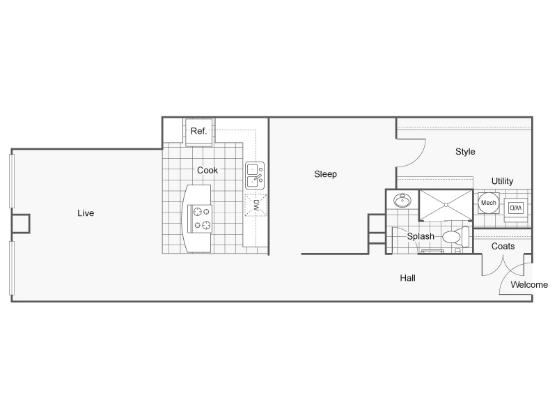 Floor Plan 26 | Apartments In Wichita KS | ReNew Wichita