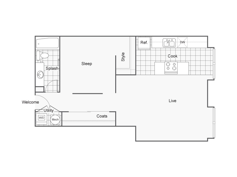Floor Plan 28 | Wichita Kansas Apartments | ReNew Wichita