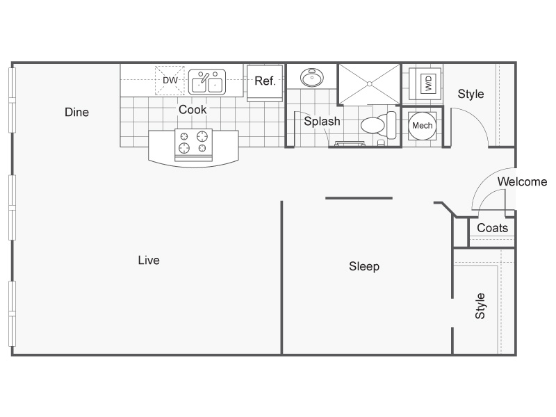 Floor Plan 30 | Apartments Downtown Wichita KS | ReNew Wichita