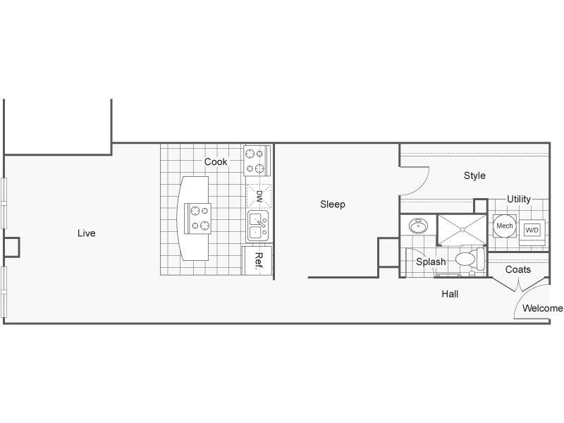 Floor Plan 33 | Wichita Kansas Apartments | ReNew Wichita