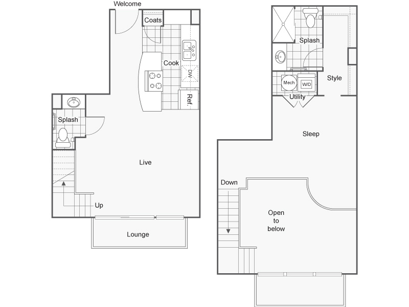 Floor Plan 37 | Studio Apartments Downtown Wichita KS | ReNew Wichita