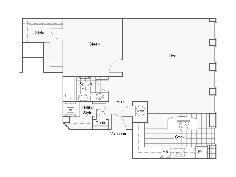 Floor Plan 39 | Luxury Apartments Wichita KS | ReNew Wichita