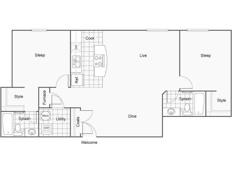 Floor Plan 48 | Wichita Kansas Apartments | ReNew Wichita