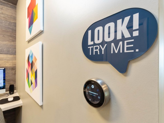 Image of Smart Apartment Thermostat & Keyless Entry for The Avalon Apartment Homes