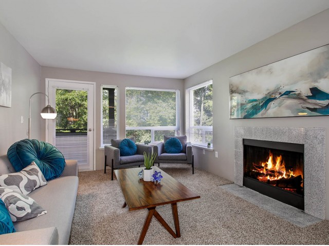Image of Fireplace* for The Diplomat Apartment Homes