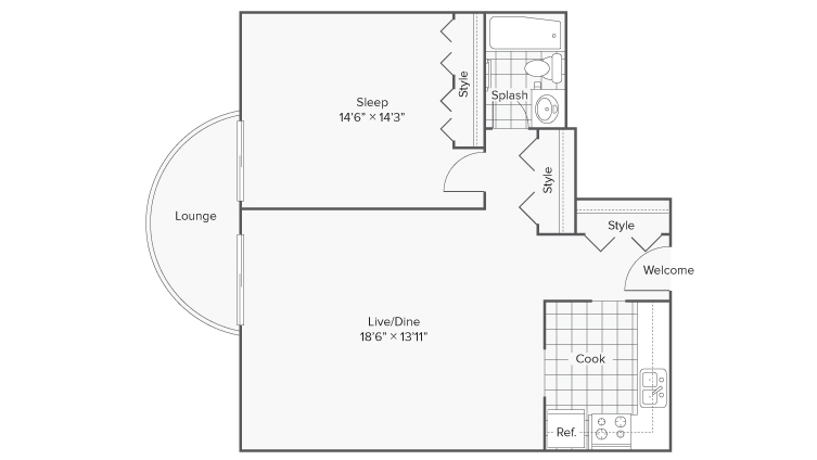 Floor Plan 1 | Apartments in Wheaton IL | ReNew Wheaton Center