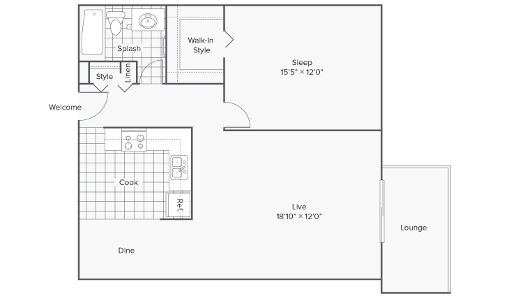 Floor Plan 6 | Apartments in Wheaton IL | ReNew Wheaton Center