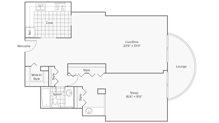 Floor Plan 7 | Apartments for Rent Wheaton IL | ReNew Wheaton Center