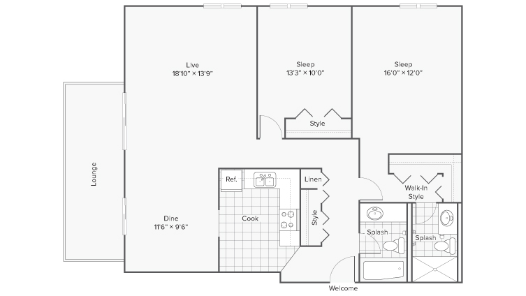 Floor Plan 8 | Apartments Wheaton IL | ReNew Wheaton Center