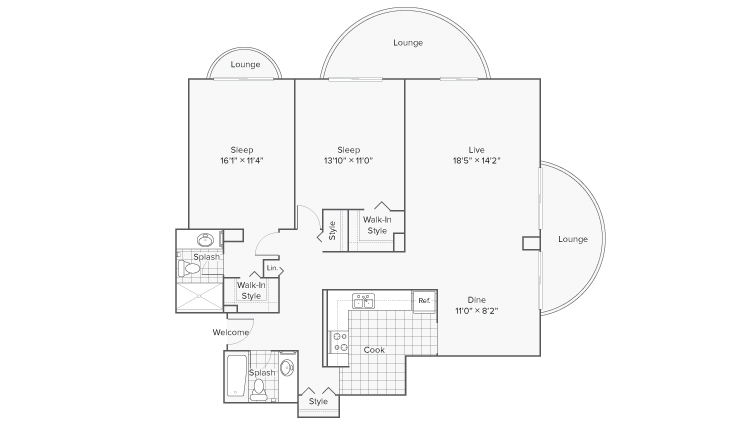 Floor Plan 11 | Apartments in Wheaton IL | ReNew Wheaton Center
