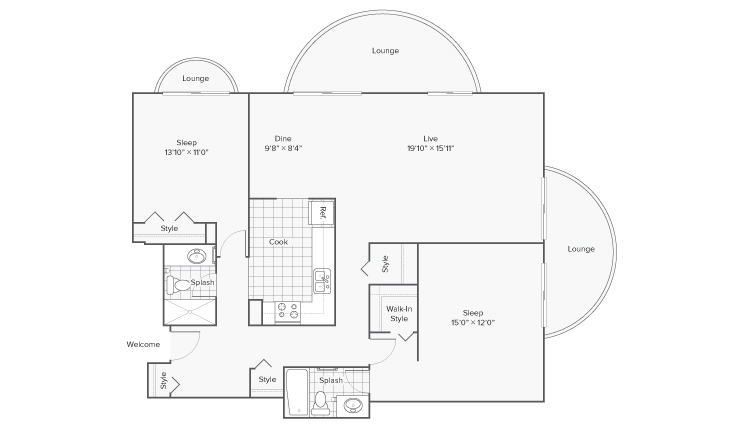 Floor Plan 12 | Apartments for Rent Wheaton IL | ReNew Wheaton Center