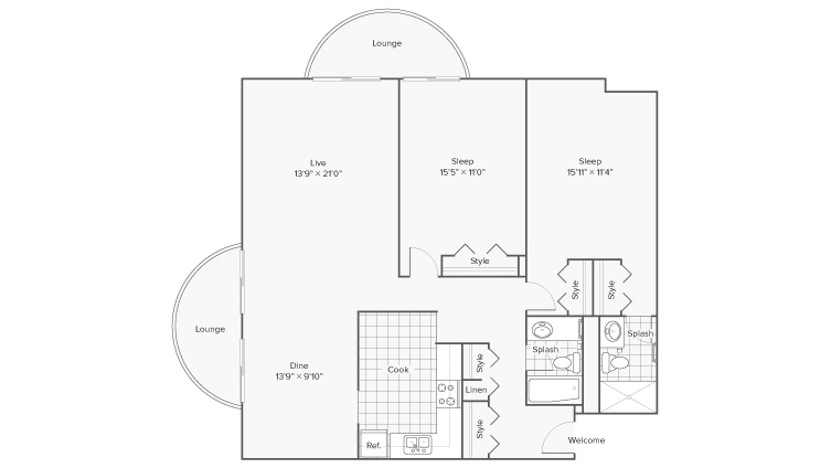 Floor Plan 13 | Apartments Wheaton IL | ReNew Wheaton Center