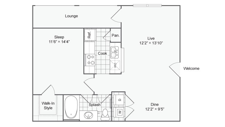 Floor Plan | ReNew at TPC Apartment Homes for Rent in San Antonio TX 78261