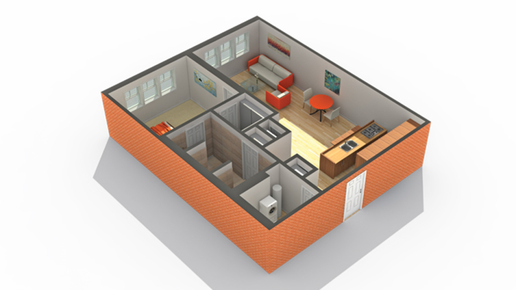 Floor Plan 3 | Apartments For Rent In Algonquin IL | ReNew on Main